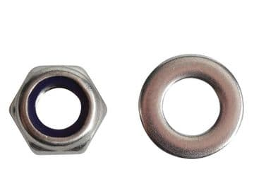 Nyloc Nuts & Washers A2 Stainless Steel M8 ForgePack 12